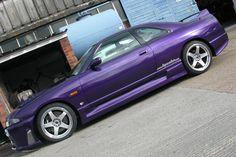 Purple Nissan Skyline R33