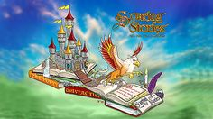 """Soaring Stories"" is the design for the Cal Poly Universities' 2015 Rose Parade float. It portrays a fairy tale castle and a mythological griffin coming to life from the pages of storybooks. It reflects the 2015 parade theme, ""Inspiring Stories."""