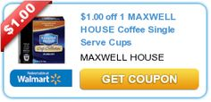 $1.00 off 1 MAXWELL HOUSE Coffee Single Serve Cups