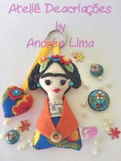 Ateliê Deacriações Chaveiro Frida (fridinha)