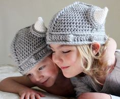 Childrens Viking Helmet with Horns Toddler Hat MADE TO ORDER They're lil viking helmets! How adorable!