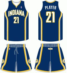 cd6a124d492 Indiana Pacers Road Uniform 2006- Present Indiana Pacers