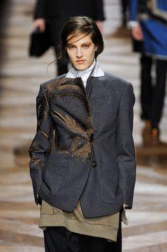 Dries Van Noten Fall 2012- sensational jacket; tailoring, style and bronze embellishment.