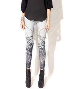 Skinny Fit Leggings in Twig Print