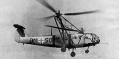 Focke-Achgelis Fa 223 Drache. Late WWII German utility helicopter.
