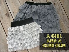 CUTE ruffled skirt tutorial this looks like somthing I can do if I get out my sewing mechine. Diy Clothing, Sewing Clothes, Dress Sewing, Diy Dress, Estilo Fashion, Diy Fashion, Fashion Shoes, Sewing For Kids, Baby Sewing