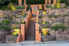 Get inspired by the Keystone Retaining Wall Systems photo gallery to spark your imagination with the standard for excellence in the segmental industry. Keystone Retaining Wall, Retaining Wall Blocks, Retaining Walls, Landscape Walls, Landscape Design, Sloped Backyard Landscaping, Landscaping Ideas, Keystone Wall, Cheap Pendant Lights