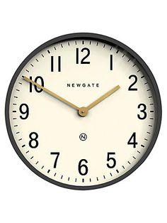 Buy Newgate Clocks Mr Edwards Wall Clock, Moonstone Grey from our Clocks range at John Lewis & Partners. Grey Wall Clocks, Kitchen Wall Clocks, Clock Movements, Old Clocks, Gold Hands, Metallic Paint, Metallic Gold, Mid Century Modern Design, Vintage Prints
