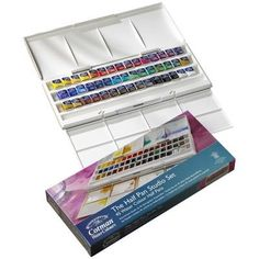 45 colors! ugg I want this! Amazon.com - Winsor & Newton Cotman Water Color Half Pan Studio Set - Art Paints