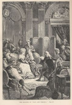 "The French court being read ""Paul and Virginia"", by Jacques-Henri Bernardin de Sainte-Pierre"