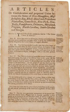postive effects of articles of confederation Distribute an article that details the first constitutional agreement made between  the original united states, the precursor to the constitution.