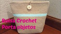 Bolsa a crochet porta objetos
