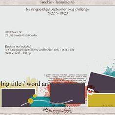 Time to play again! September blog challenge is here! | ninigoesdigi's blog