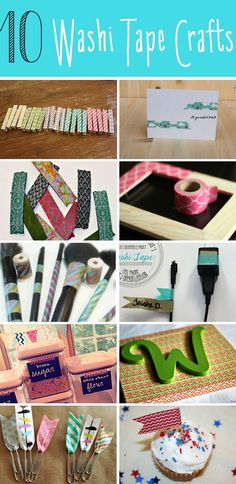10 Washi Tape Crafts...I can already tell I'm gonna be addicted!! Lookin for anything & everything that needs a little pick me up...washi tape style! Lol