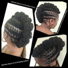 These black hairstyles braids truly are beautiful Mohawk Styles, Dreadlock Styles, Dreads Styles, Dreadlock Hairstyles, Cool Hairstyles, Black Hairstyles, Natural Hairstyles, Twisted Hair, Hype Hair