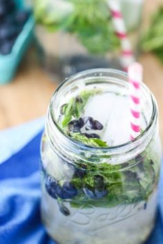 Blueberry Mint Spritzers via @Jenna Nelson Nelson Nelson (Eat, Live, Run)