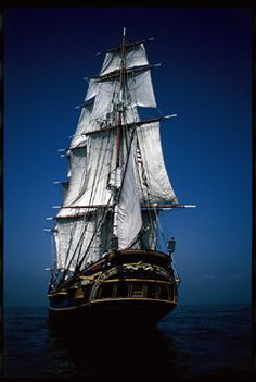 The HMS Bounty - boarded it. Think this was lost recently at sea...