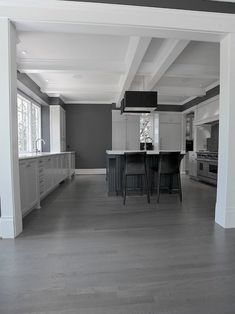 15 Stunning Grey Kitchen Floor Design Ideas is part of Grey Living Room Floor - Kitchen flooring might need to be practical and hardwearing, but there's no need for it to be dull Natural materials such as stone and wood flooring is Inexpensive Flooring, Home, Hardwood Floors, Flooring, House, House Flooring, Floor Design, Grey Kitchen Floor, Grey Hardwood Floors