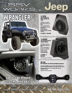 """SSV Works Jeep Wrangler TJ Front Kick Panels designed for 6 1/2"""" Speakers"""
