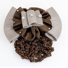 lady Glitter Rhinestones Brown White Stripe Stewardess Hair Clip >>> Be sure to check out this awesome product. (This is an Amazon affiliate link)