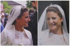Baronne Bernadette de Mentzingen le 24 mai 2014 jour de son mariage avec Melchior comte de Schonborn-Buchheim, fils de la princesse Isabelle d'Orléans (°1932) et du comte Friedrich-Karl de Schönborn-Buchheim