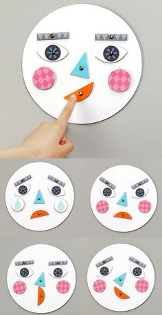 emotions crafts for kids \ emotions crafts for preschoolers ; emotions crafts for toddlers ; emotions crafts for kids ; emotions crafts for toddlers feelings ; emotions crafts for preschool Learning Activities, Preschool Activities, Kids Learning, Emotions Activities, Therapy Activities, Diy Preschool Toys, Emotions Game, Autism Learning, Kids Crafts