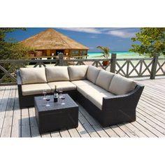 Bellini Home And Garden Cava 6 Piece Conversation Sectional Seating Set    Walmart.com