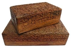 Indian Wood Boxes, Pair on OneKingsLane.com