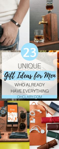 23 Unique Gift Ideas for Men Who Have Everything - Best Gifts For Hard To Buy For Men ideas for boyfriend birthday to buy 24 Unique Gift Ideas for Men Who Have Everything Guide) Diy Gifts For Him, Unique Gifts For Men, Unusual Gifts, Best Mens Gifts, Creative Gifts, Best Man Gift Ideas, Practical Gifts For Men, Gifts For Your Boyfriend, Birthday Gifts For Boyfriend