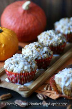 Zimtkeks und Apfeltarte: Booooh! Halloween naht und ich habe die allerköstlichsten Pumpkin-Muffins mit Streuseln!!!