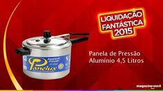 Liquidação fantástica 2015 - Panela de Pressão Alumínio 4,5 litros. Visite nossa loja Magazine Dufrom no site: www.magazinevoce.com.br/magazinedufrom/ E-mail: engefrom@uol.com.br   MAGAZINE DUFROM, todos os dias com ofertas incríveis para voce.
