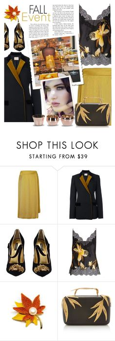 """""""Fall Event"""" by sara-cdth ❤ liked on Polyvore featuring Banana Republic, Christopher Kane, Dolce&Gabbana, Carine Gilson, Elie Saab and Skultuna"""