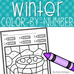 This Winter Color-By-Number Page is perfect for PreK, Kindergarten or homeschool students. This set includes 8 color-by-number pages that are winter-themed. These are perfect for December, January, Holidays, Seasonal, or Christmas activities. Each page has numbers 1-6. These simple, but fun activities are great for preschoolers and Kinders to use during math stations, centers, review and early or fast finishers. Pictures include a snowman, a penguin, a hot chocolate mug and more!