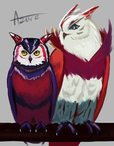 "azureflamearts: ""League of Birds: Xayah & Rakan """