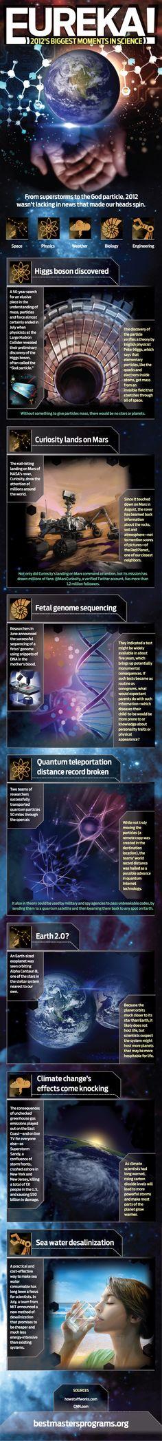 Los mejores momentos de la ciencia en 2012 #infografia #infographic