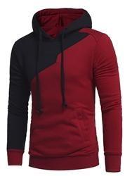#EricDress - #EricDress Ericdress Hooded Slim Color Block Mens Pullover Mens Hoodie - AdoreWe.com