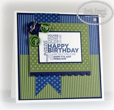 SU! Delightful Dozen stamp set; Night of Navy, Always Artichoke and Whisper White card stock; Regals Collection DSP - Beth Beard