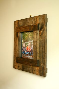 Rustic 8x10 Wood Picture Frame Custom Distressed by SilvaDesignLLC