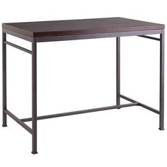 clark cntr table wood metal