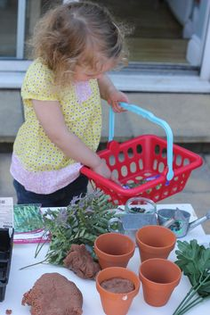 Play dough Garden Centre Pretend Play lovely idea :D