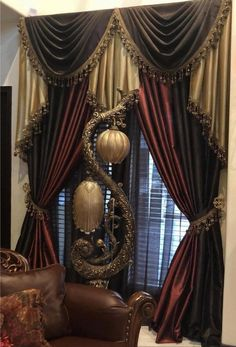 Luxury Curtains, Elegant Curtains, Home Curtains, Beautiful Curtains, Custom Curtains, Panel Curtains, Luxury Bedding, Victorian Curtains, Victorian Windows