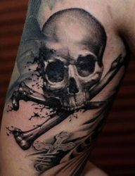 098d275be Crossbone Skull Tattoo Design Bone Tattoos, Badass Tattoos, Sleeve Tattoos,  Tatoos, Tattoo