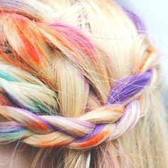 "Salon Grade HAIR CHALK - Pick your Color - (1) ""Big Stick"" - Temporary Hair Dye - Hair Tint - Hair Rub - Dip Dye. $4.50, via Etsy."