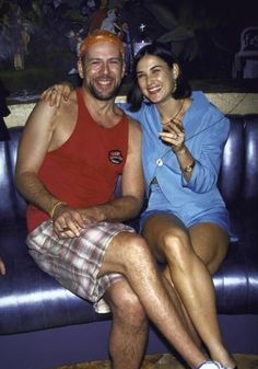 Demi Moore and Bruce Willis - so young and so in love. . . .