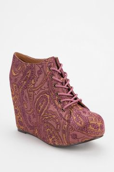 Jeffrey Campbell Brocade 99 Tie Wedge #urbanoutfitters #jeffreycampbell