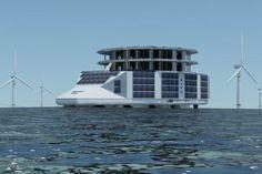 Combiner éolien, solaire et énergies marines, pour alimenter une grande structure flottante. L'innovation spectaculaire d'une PME innovante.