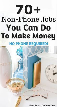 Looking for non-phone jobs you can do from home? Here is a list of 70 non-phone jobs you can start to make money online.