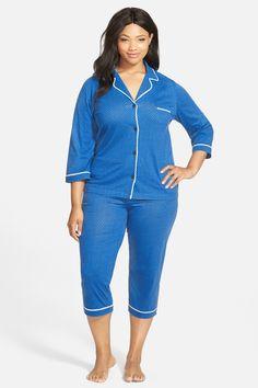 Jenni Plus Size Pajamas, Thermal Top and Printed Pajama Pants Set ...