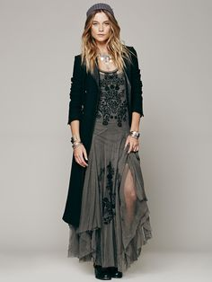 Free People Darya Mesh Embroidered Maxi, $355.00