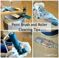 Paint Brush and Roller Cleaning Tips and Tricks